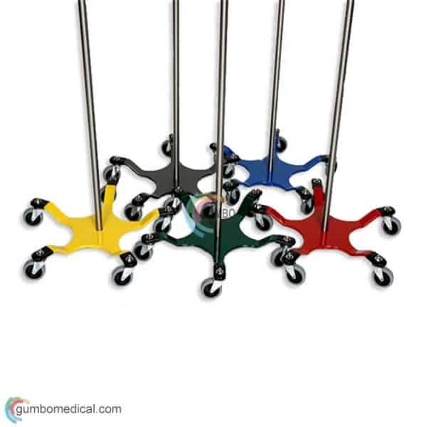 Chrome 5 Leg Spider IV Pole Colors