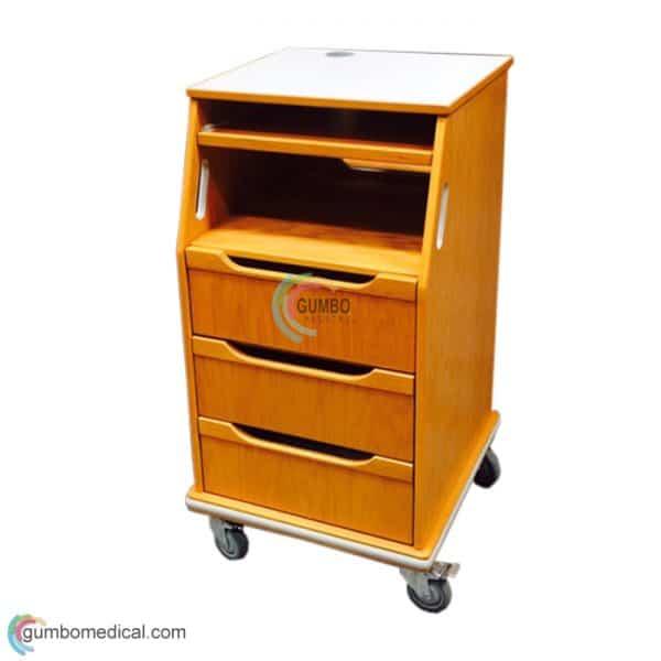 Fetal Monitor Cart Oak