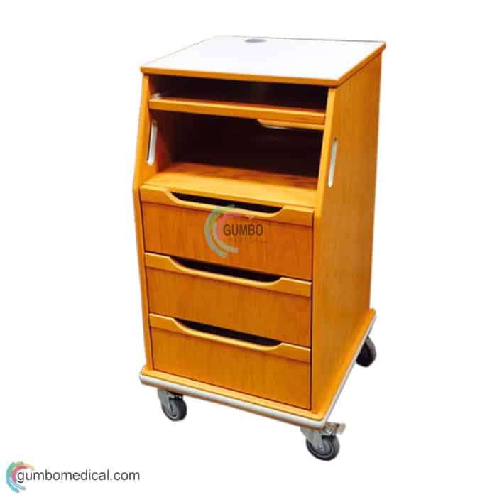 Fetal Monitor Cart Oak