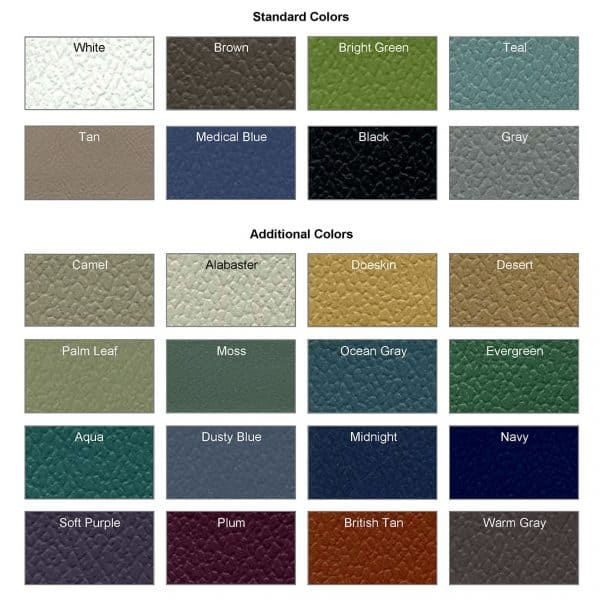 Seating Vinyl Colors